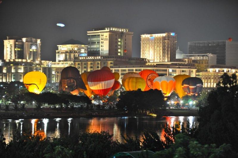 putrajaya hot air balloon fiesta night glow