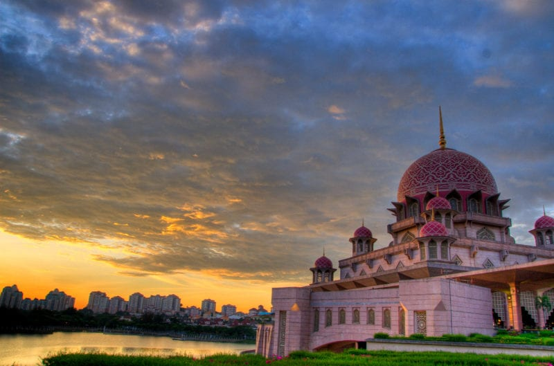 putra mosque at sunset flickr Syed Abdul Khaliq