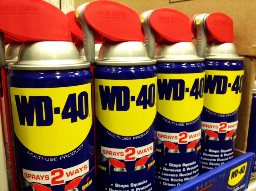 4 cans of WD-40 in a row