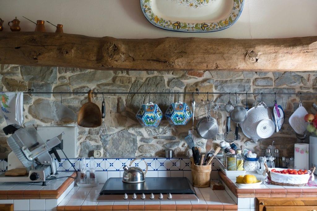 Kitchen appliances in wide array in kitchen