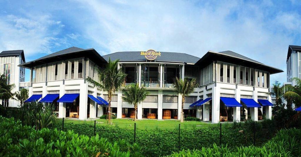 Front facade of Hard Rock Hotel Desaru Coast