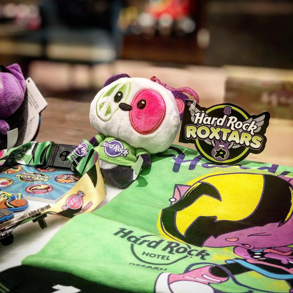 Hard Rock soft toys and tees and collectibles