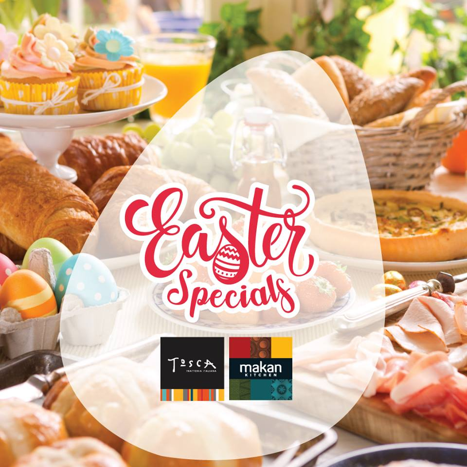 Easter Specials on buffet backdrop