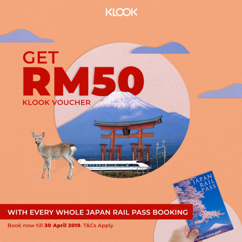 rm50 klook voucher JR pass Upsell