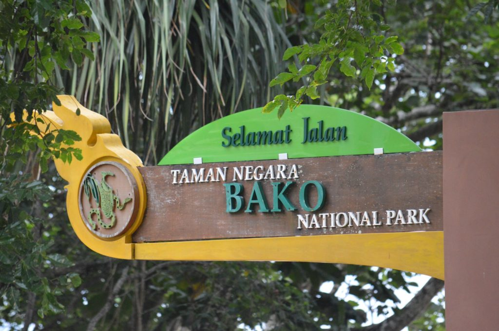 Entrance signage to Bako National Park