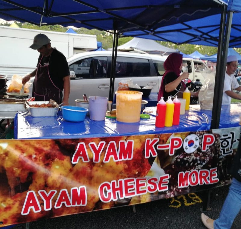 cheese fried chicken at stadium shah alam