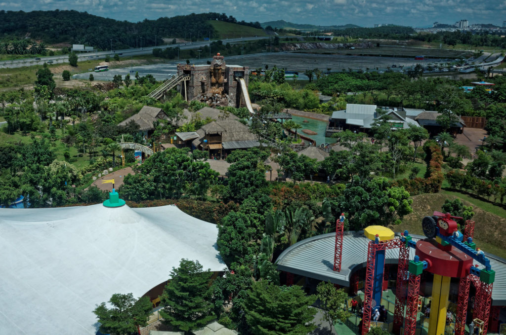 aerial view over LEGOLAND Malaysia