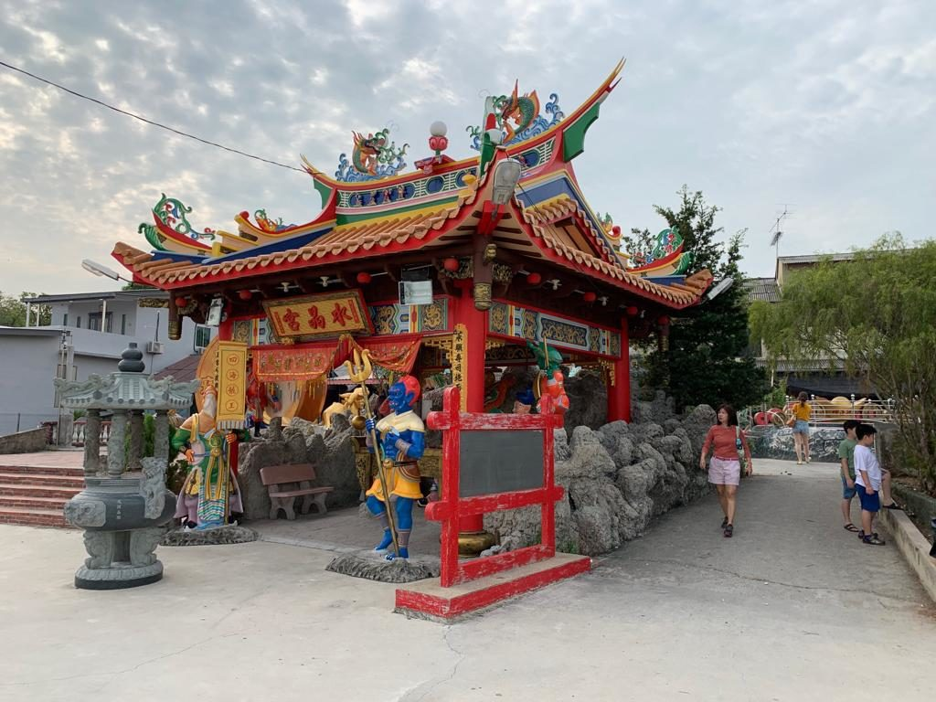 Front entrance to temple at Segenting