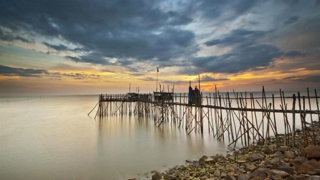 Sunset at Minyak Beku beach