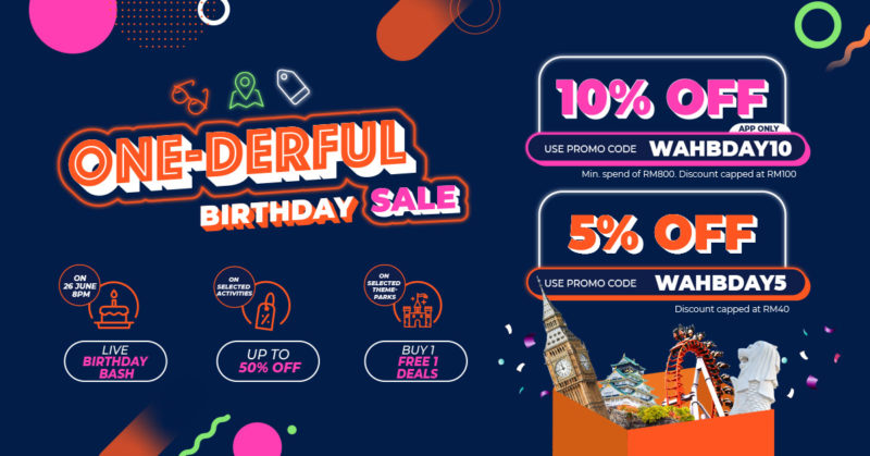 Klook Birthday Sale Promo