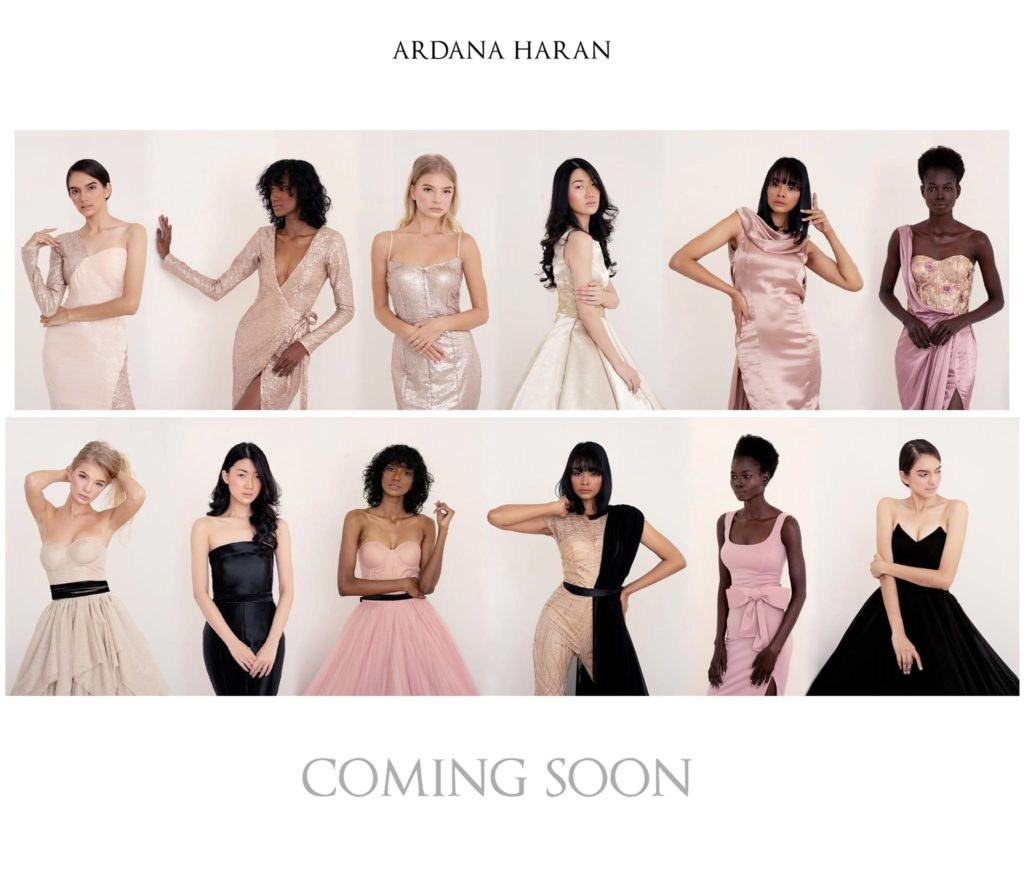 12 models wearing gowns featured as coming soon
