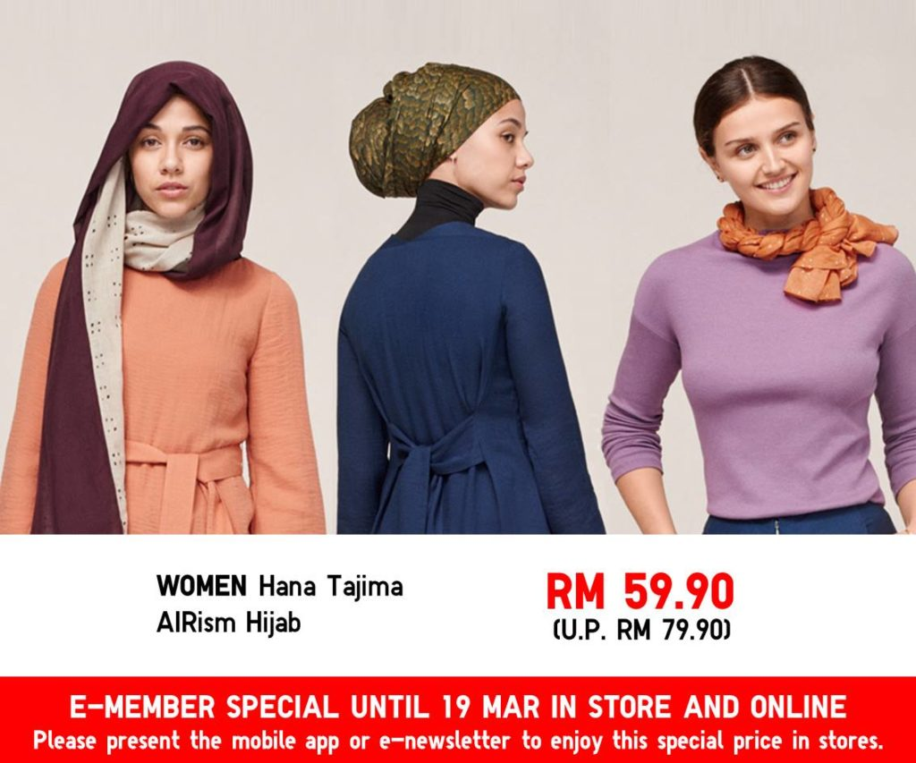 3 models wearing Hana Tajima hijab in different styles