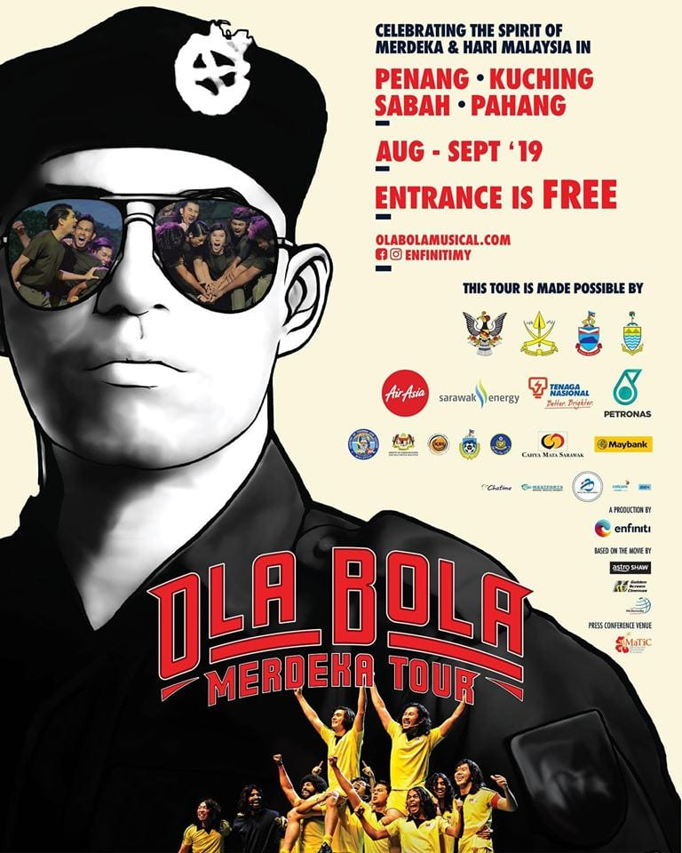 Poster for Ola Bola Musical Merdeka Tour