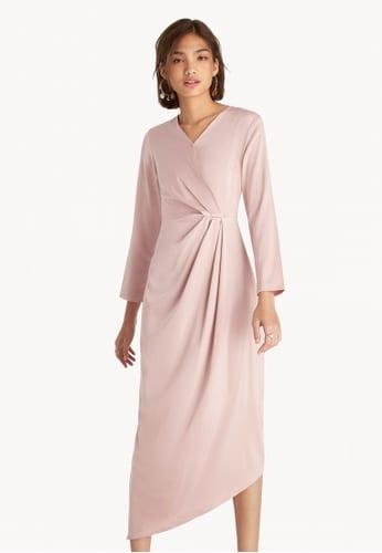 assymetrical rutched dress
