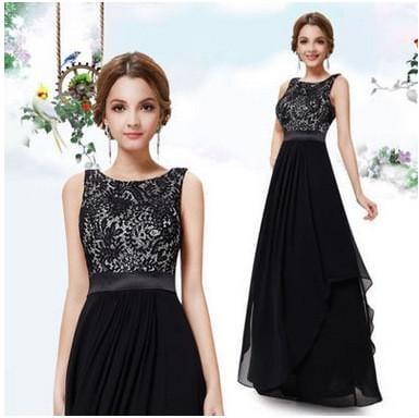 black dress lace top