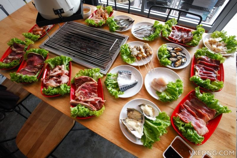 meats and seafood for Korean BBQ