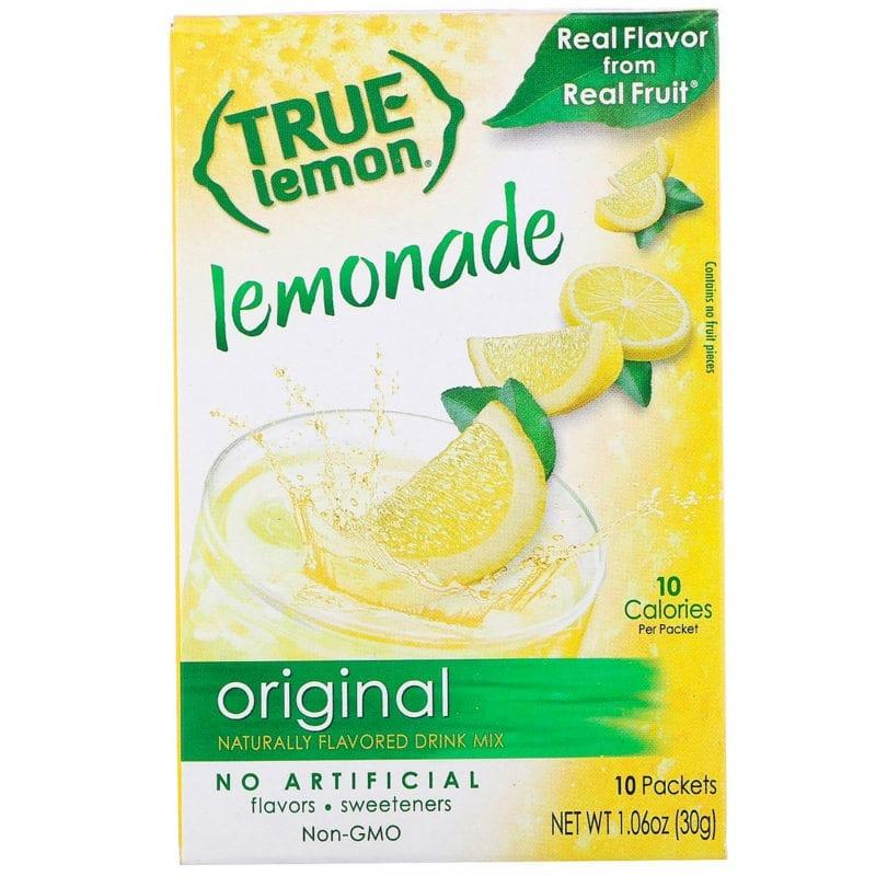 healthier  drink lemon lemonade