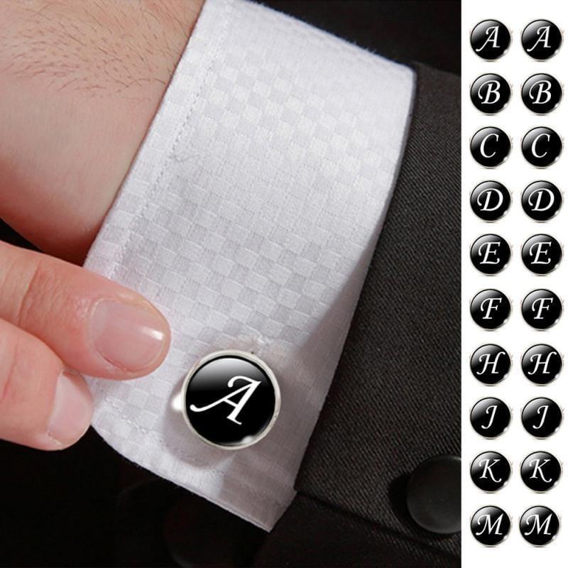 Alphabet cuff links