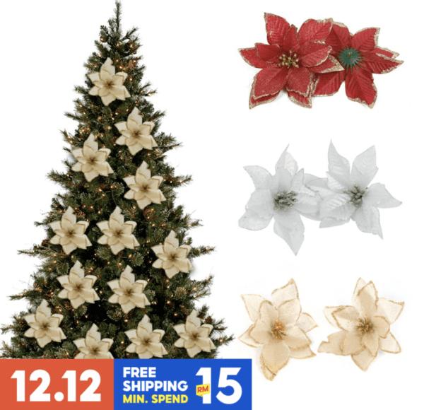 christmas decor artificial flowers ornaments