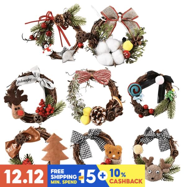 christmas decor mini wreath