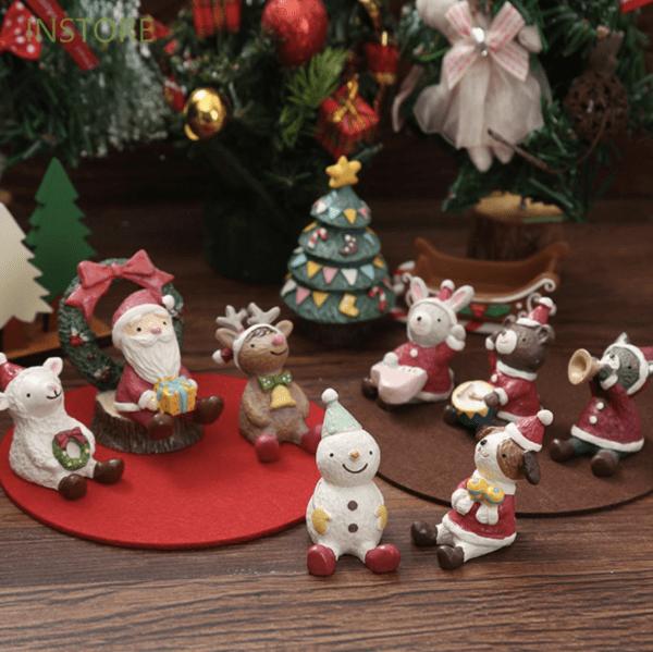 mini christmas character figurines