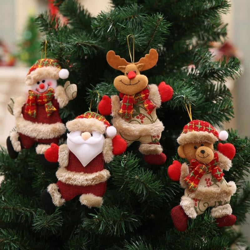 Christmas plush christmas decorations