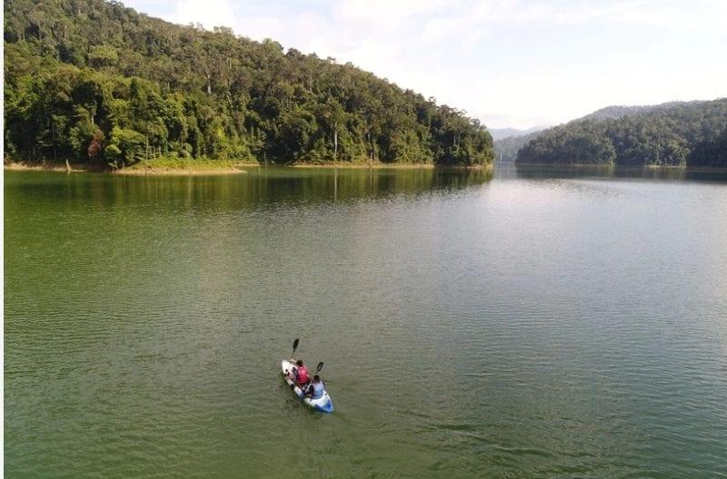 Kayaking lake Temeggor