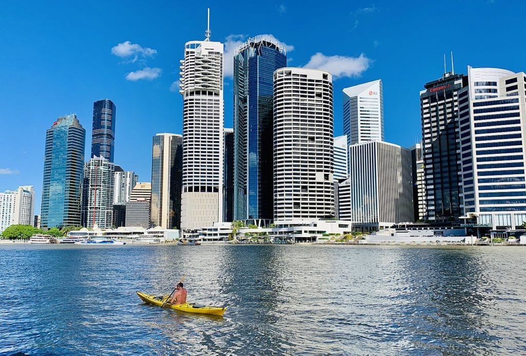 Brisbane River with buildings in background