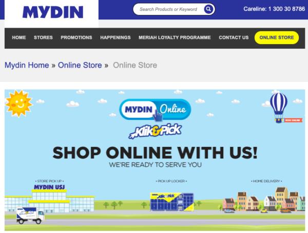 mydin online grocer