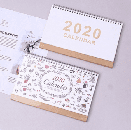white weekly and monthly calendar