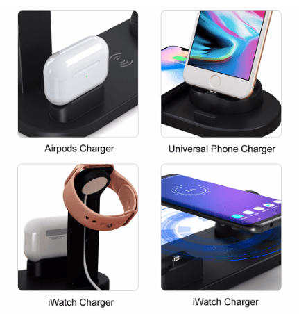 wireless charging station for phone, smartwatch and AirPods pro