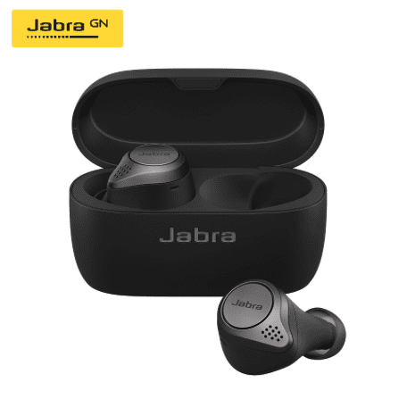 black wireless earbuds for music and call