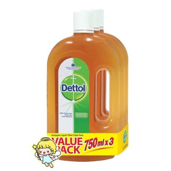 3-pack bundle of Dettol Antiseptic Liquid
