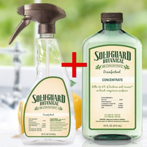 Maleleuca Sol-U-Guard Botanical concentrate and spray bottle