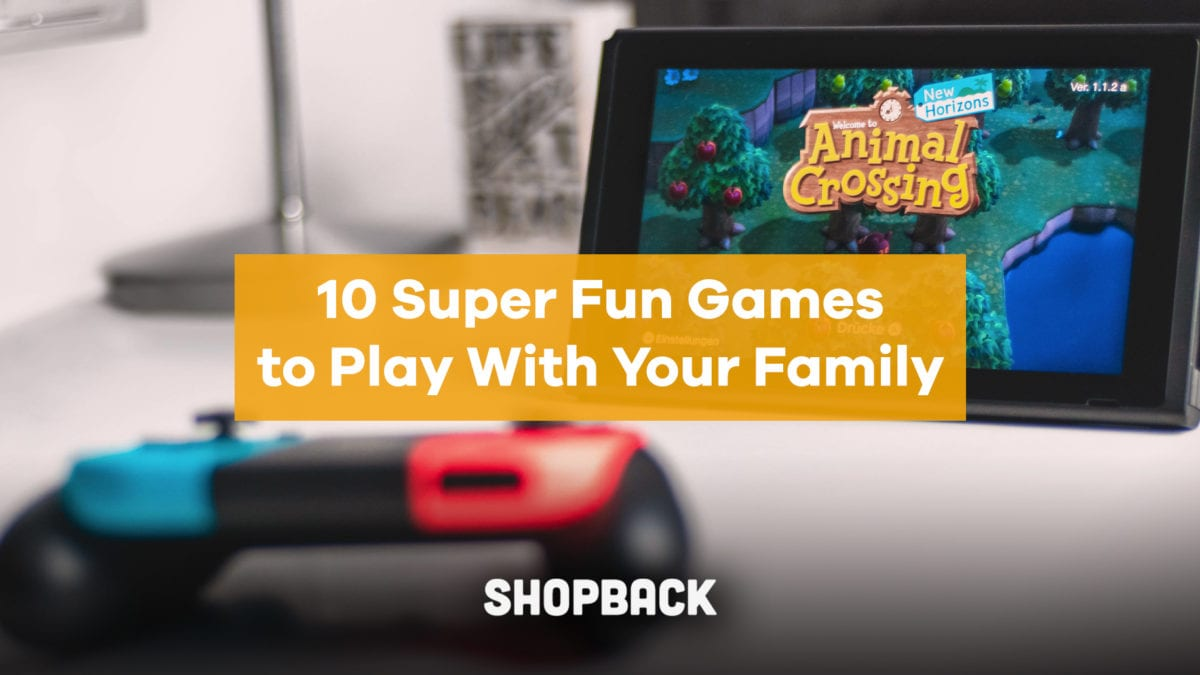 10 Super Fun Games To Play With Your Family – Animal Crossing, Super Mario, Jenga and more!