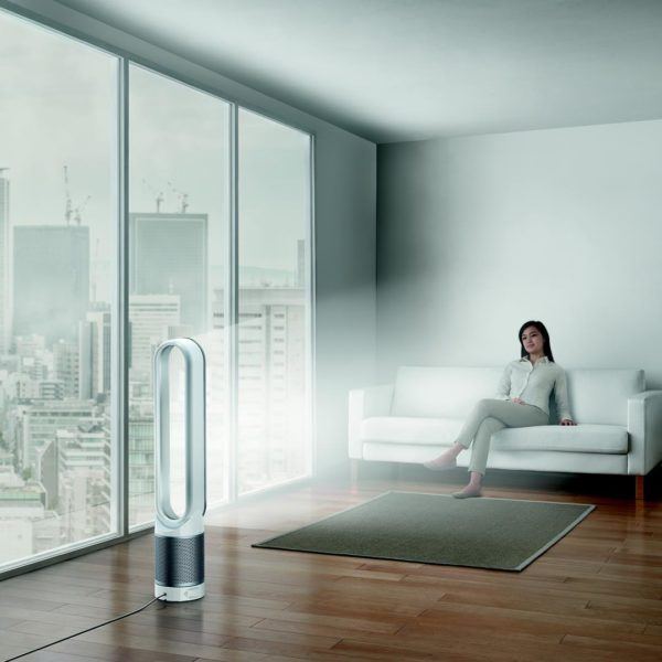 Dyson Air Purifier with woman