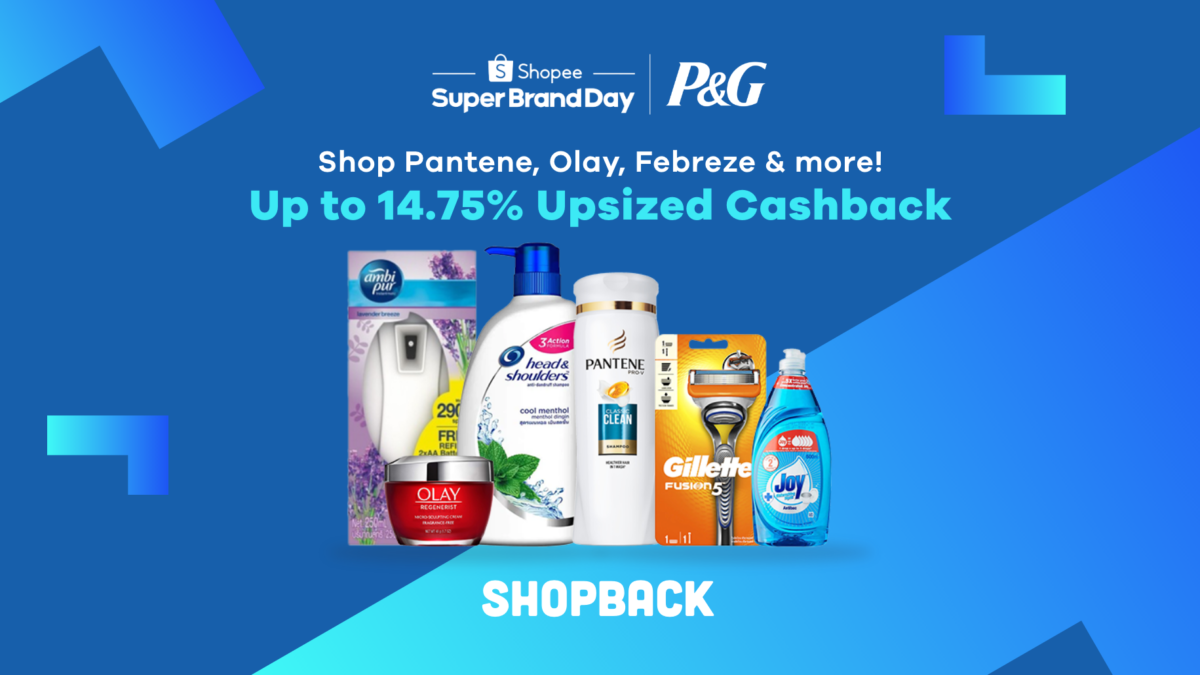 Up to 50% off Olay, Pantene, Febreze & More on P&G Shopee Super Brand Day!
