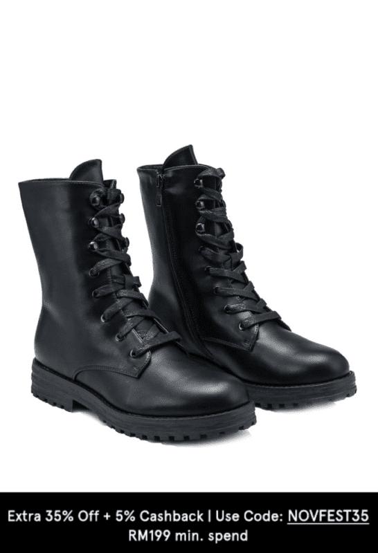 keddon combat boots on zalora