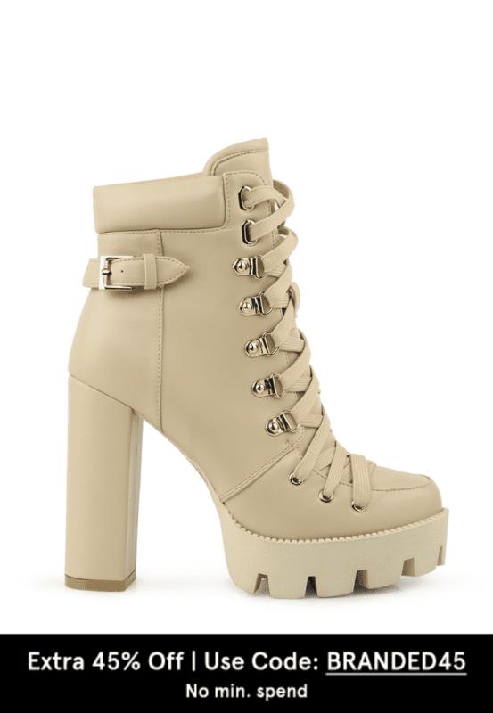 lace up combat boots london rag on zalora