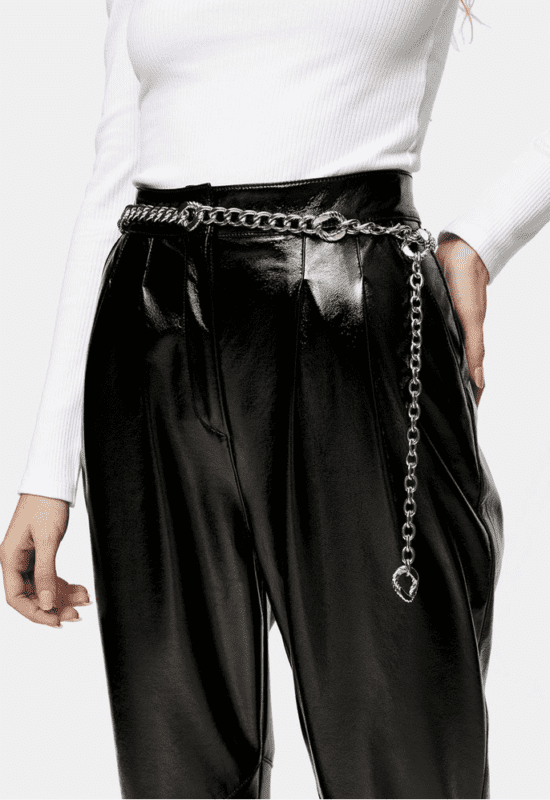 topshop silver chain belt on zalora