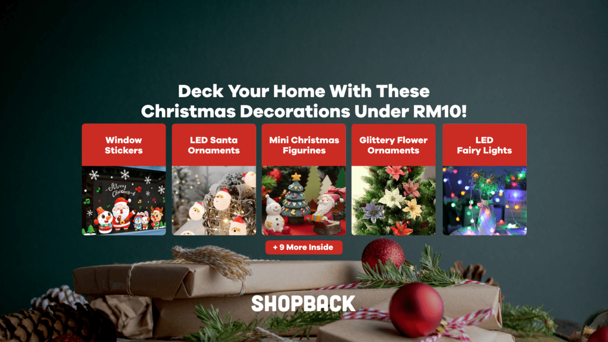 Deck Your Home With These Christmas Decorations For Less Than RM10!
