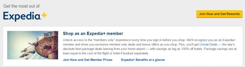 Expedia Member Deals