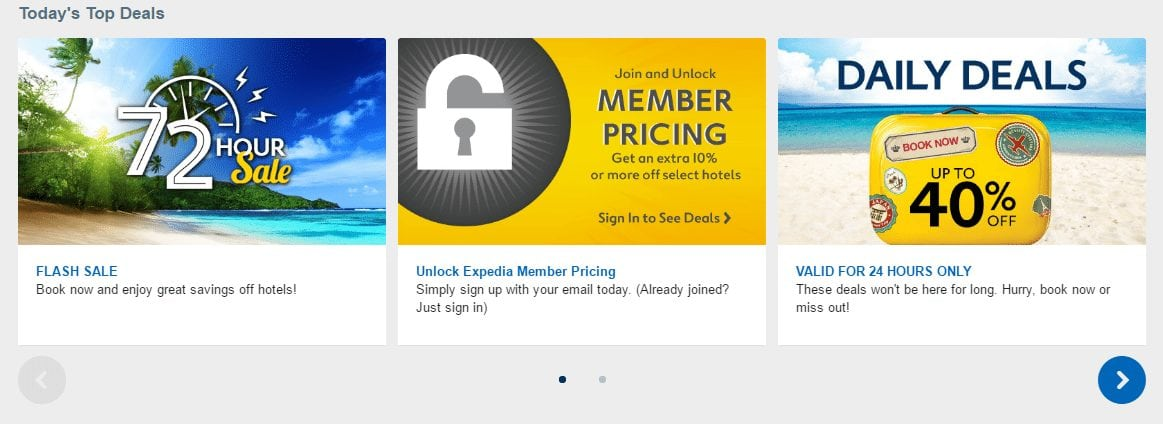 Expedia daily top deals