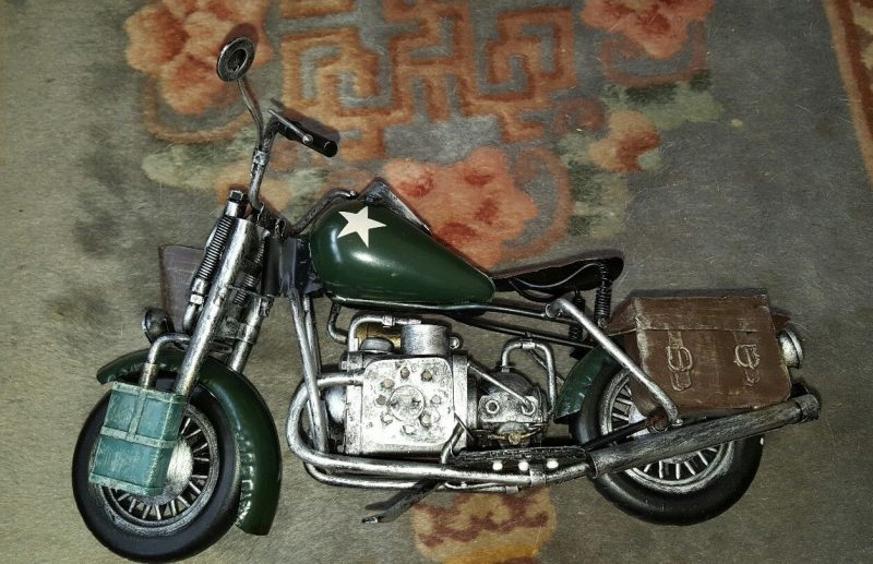 Vintage Army Motorcycle Model