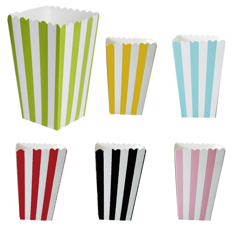 Striped Popcorn Boxes