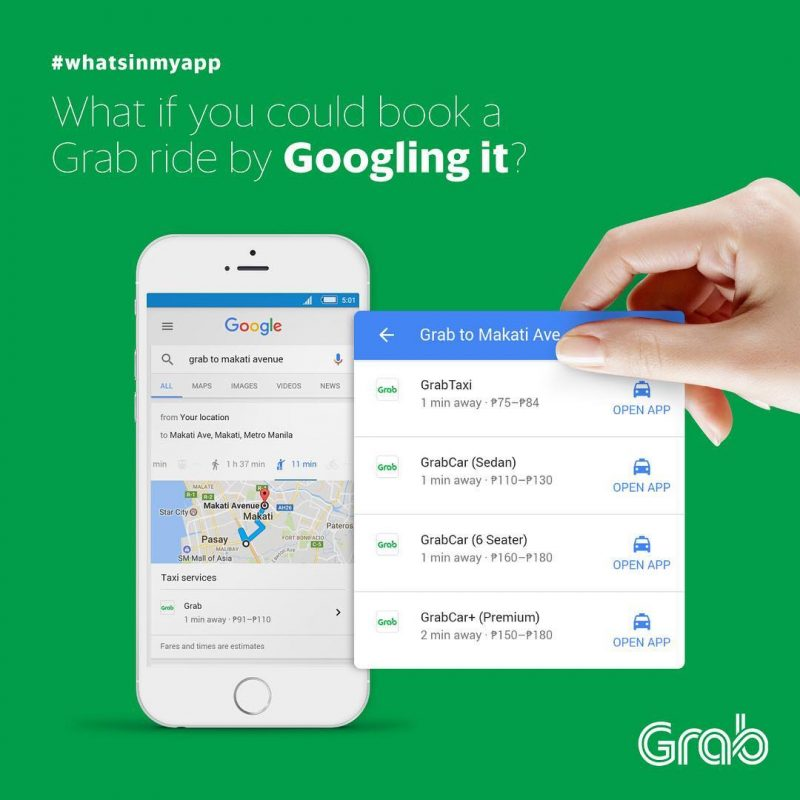 Google For Your Grab Ride