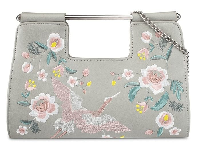 Embroidered Detail Clutch