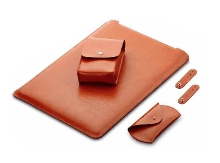 4-In-1 Laptop Leather MacBook Cover