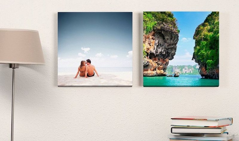 Photobook Worldwide Canvas prints mounted on the wall