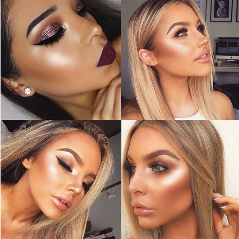 Highlight Gloss Shimmer Glow Make Up Trend